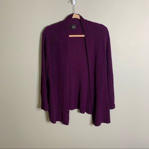 Eileen Fisher Purple Open Front Cardigan
